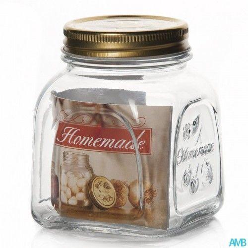 Банку з метав.кришкою Pasabahce Homemade, 0,5 л (h=110 мм) 80384
