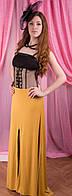 Вечернее платье желтое с черным