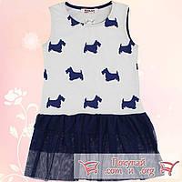 Платье с гипюром для девочек от 5 до 8 лет (5410-2)