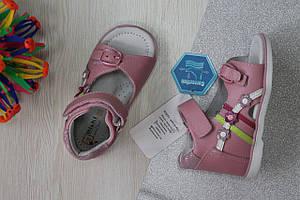 Ортопедические кожаные босоножки на девочку, детская кожаная летняя обувь Tom.m р.20,21,22,23