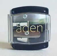Двойная точилка для косметических карандашей (black) Aden