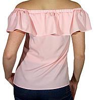 """Женская блузка с воланом и сборкой """"Таsani"""" №513 розовые"""