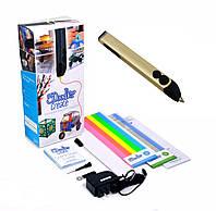 3D-ручка 3Doodler Create для проф. использования - ЗОЛОТАЯ (50 стержней из ABS-пластика, аксесс.)