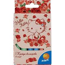 Яркий и насыщенный мел цветной Kite, 12 цветов, Hello Kitty