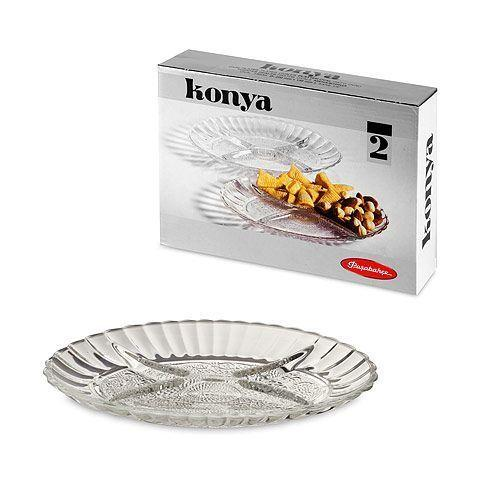 Блюдо овальне з роздільником Pasabahce Konya, 220*156 мм, 2 шт. 54322