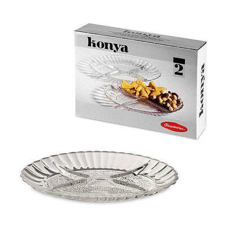 Блюдо овальне з роздільником Pasabahce Konya, 220*156 мм, 2 шт. 54322, фото 2