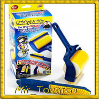 Валик для уборки «Sticky Buddy» Reusable Sticky Picker Upper, Щетка для чистки одежды ковра