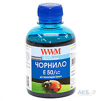 Чернила WWM EPSON STYLUS PHOTO R200/R340/RX620 1000Г LIGHT CYAN WATER-SO WWM (E50/LC-4)