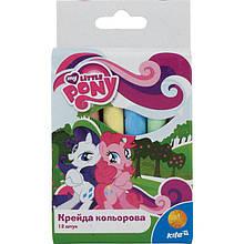 Яркий и насыщенный мел цветной Kite, 12 цветов, Little Pony