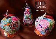 Набор декоративных свечей от ELITE CANDLES в наборе 3 свечи - квадратной, круглой и формы пирамида