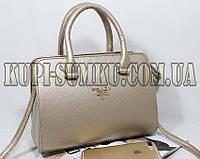 Золотая брендовая женская сумка