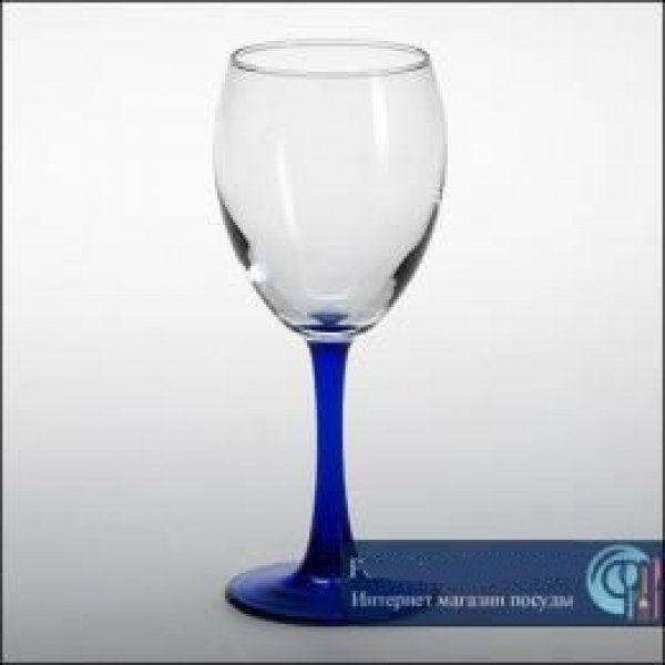 Бокал для вина (голубая ножка), 240 мл Pasabahce Imperial plus, 4 шт. 44799