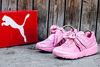 Женские кроссовки Puma Bow Sneakers by Rihanna 2017 с бантом, розовые