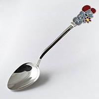 """Серебряная ложка для ребенка """"Мишка Teddy"""" Арт.ЮМ-9024"""