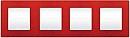 Рамка 4-постова, червоний, Legrand Etika Легранд Етика