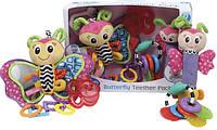 """Подарочный набор из 4 тгрушек погремушеки и прорезыватели """"Бабочка"""" Playgro Teether Gift Pack Оригинал из США"""