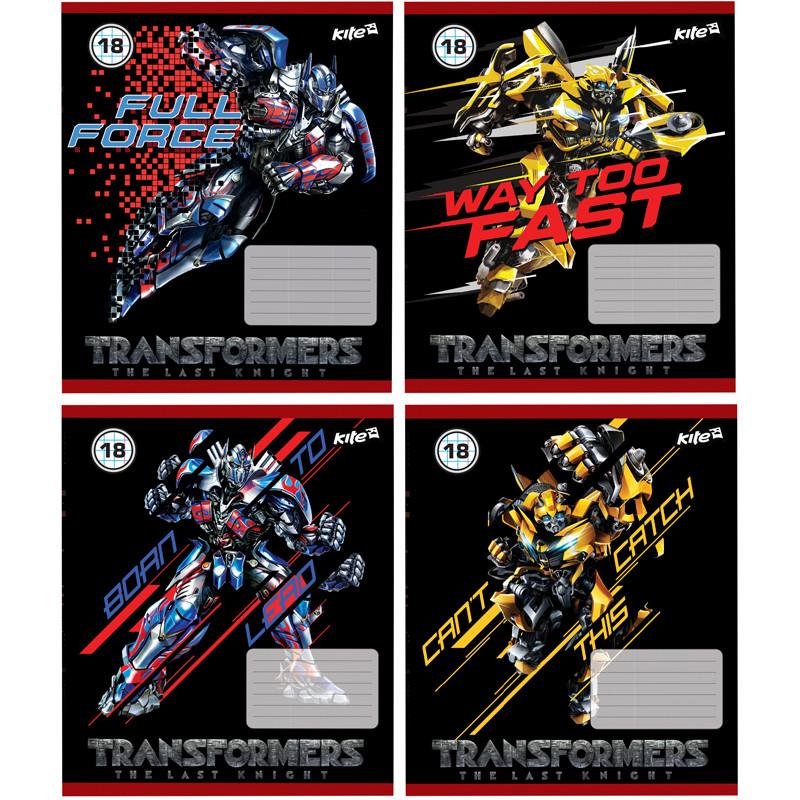 Тетрадь, Transformers, 18 листов, клетка,  TF17-236