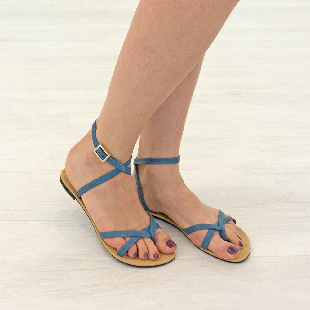 Сандалии женские Woman's heel 39 голубые (О-793)