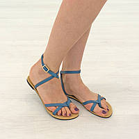 Сандалии женские Woman's heel 39 голубые (О-793), фото 1