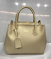 Сумка женская Dior 2316 классическая в бежевом цвете