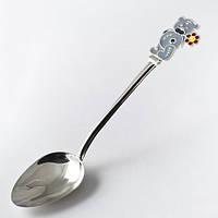 """Серебряная ложка для ребенка """"Мишка Teddy"""" Арт.ЮМ-9025"""