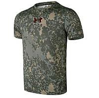 Тактические мужские футболки Under Armour. Военный дизайн. Хорошее качество. Доступная цена. Код: КГ1349
