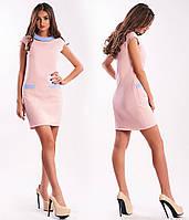 Платье женское летнее короткое с воротничком не дорого