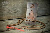 "Подставка для смартфона ""Медитация"" Морилка орех"