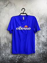 Качественная футболка Ellesse синяя (большой принт) (РЕПЛИКА)