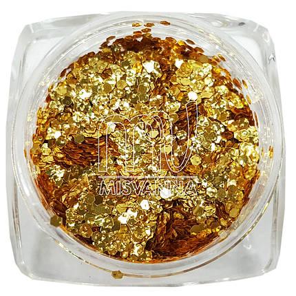 5D чешуя с невероятным сиянием №D08 золото, фото 2