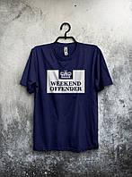 Темно синяя футболка Weekend Offender (большой принт)