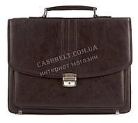 Стильный деловой мужской портфель с качественной PU кожи CANTLOR art. 4003C-02 коричневый