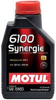 Моторное масло MOTUL 6100 SYNERGIE SAE 15W50 1L
