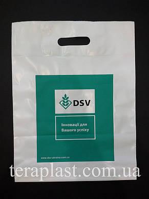 Пакет с вырубной ручкой 300х400, 50 мкм печать 2 цвет, фото 3