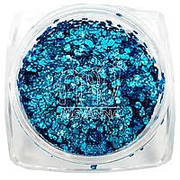 5D чешуя с неверояным сиянием, 2 г, нежно-голубая