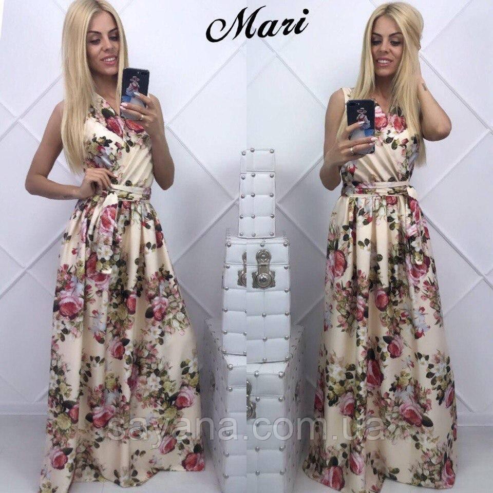 Женское красивое платье в пол в расцветках. К-11-0517