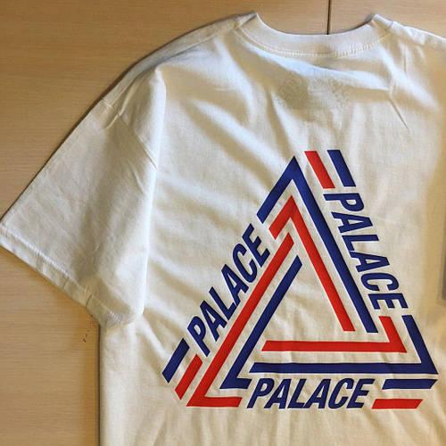 PALACE logo Футболка белая