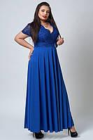 Нарядное женское платье в пол. Размеры 52, 54, 56.