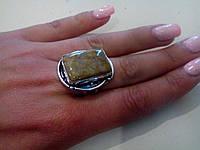 Кольцо окаменелый коралл в серебре. Индия!