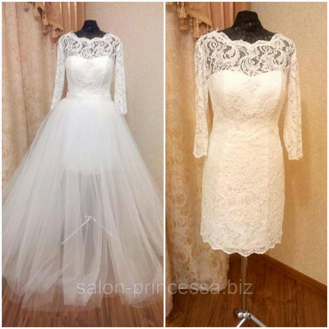 a4a40d569f3 Свадебное платье-трансформер (1) со съемной верхней юбкой (Код  Д-ТМ ...