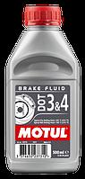 Тормозная жидкость 100% синтетическая MOTUL DOT 3&4 0,5л