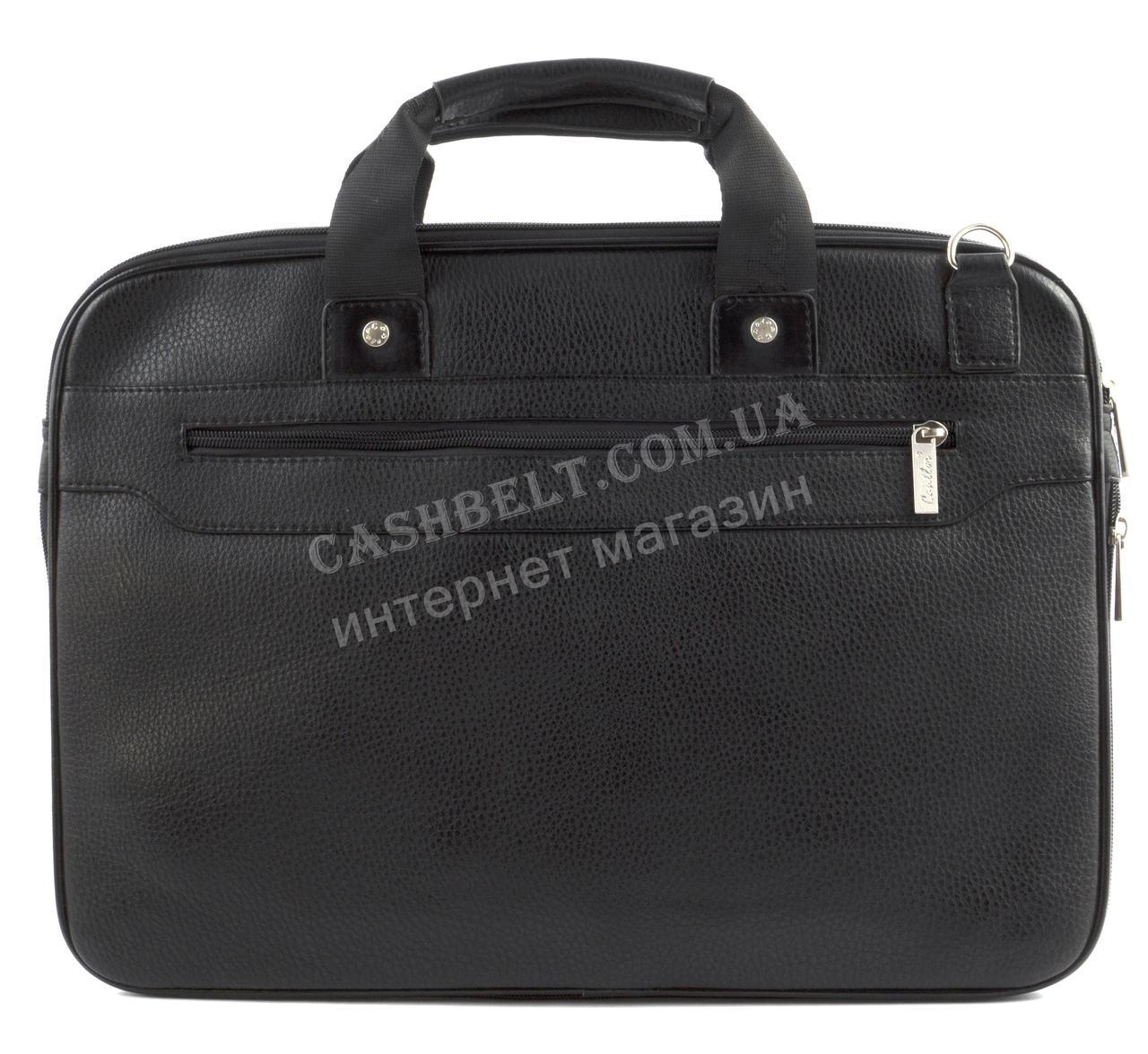 740890b0cdec Вместительная мужская сумка для документов с качественной PU кожи CANTLOR  art. 704-1 черный