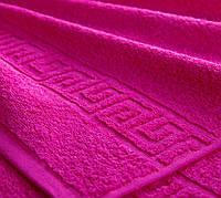 Полотенце махровое Туркменистан 50х90 темно-розовое
