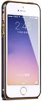 Бампер для iPhone 5/5s/SE Metal Slim, Black-Gold