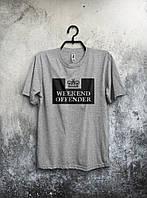 Серая футболка Weekend Offender (большой принт)