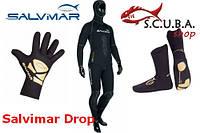Набор снаряжения для подводной охоты Гидрокостюм 7 мм Salvimar Drop, перчатки, носки 5 мм