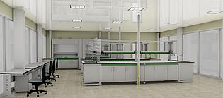 Мебель для лаборатории, комплексное решение (3D)