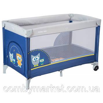 Манеж-кровать Baby Mix Sowa HR-8052 173 dark blue