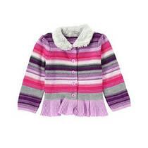 Кофта вязаная с меховым воротником для девочек 2, 3, 4 года Fur Collar Cardigan Gymboree (США)