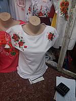 Вышитая женская футболка полотно   831 (Л.Л.Л)
